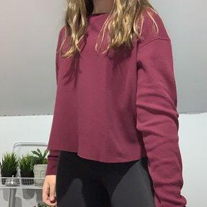 maroon long sleeve